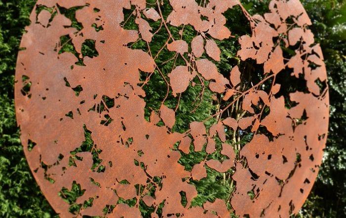 'Copper Beech' corten weathering steel sculpture