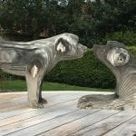 Digby & Alfie. Stainless steel. 1/3rd life-size