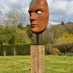 Mask of Achilles. Iron and bronze resin.