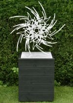 'Sprite II' satin finished stainless steel sculpture