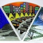 Town and Country Darkness Triptych - Starlight, Townlight, Moonlight