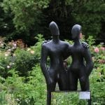 Etruscan Couple 2 in rose garden