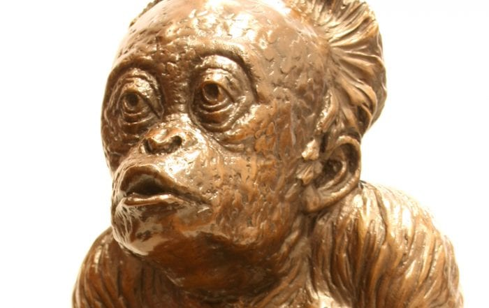 Little Beggar in bronze by Martin Duffy